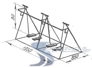 Тренажер шагаход | Малые архитектурные формы